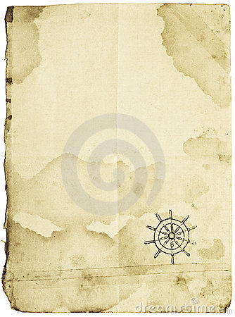 Free Treasure Map, Isolated On White Stock Photography - 4411392