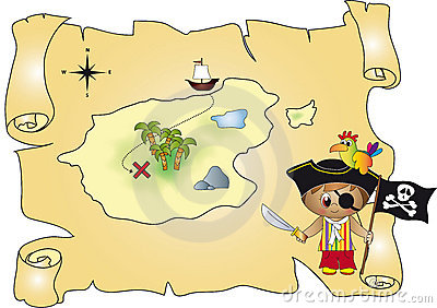 Treasure map pirate