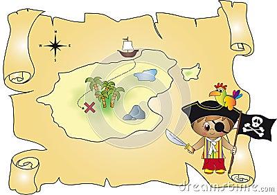 Treasure map pirate