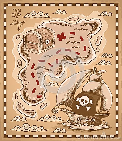 Treasure map theme image 1
