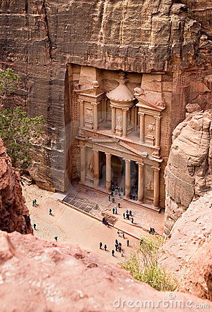 The Treasury. Ancient city of Petra, Jordan