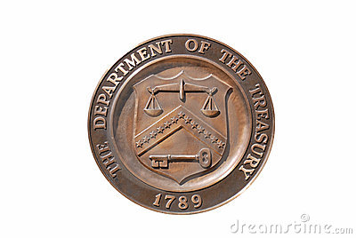 Treasury Department seal, washington dc Editorial Stock Photo