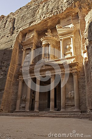Treasury facade in Petra