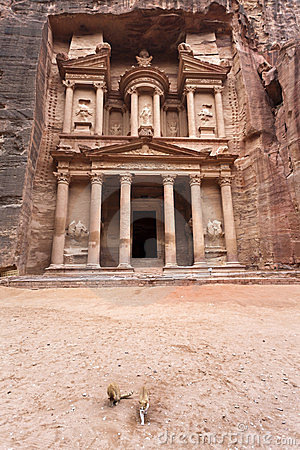 The Treasury in Petra - Jordan