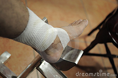 Treatment for injured foot