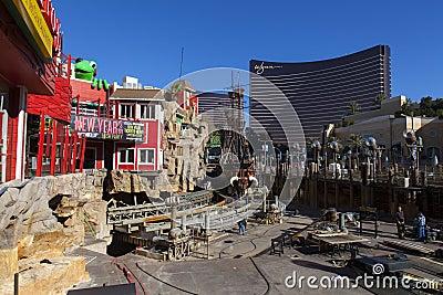 Treaure Island construction in Las Vegas, December 10, 2013. Editorial Photo