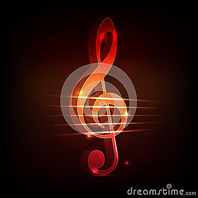 Treble clef background