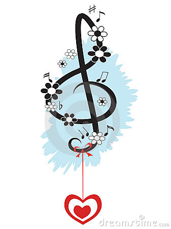 Treble clef,decor