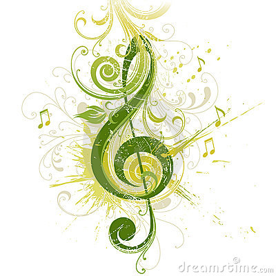 Free Treble Clef. Floral Design. Royalty Free Stock Photo - 7237515