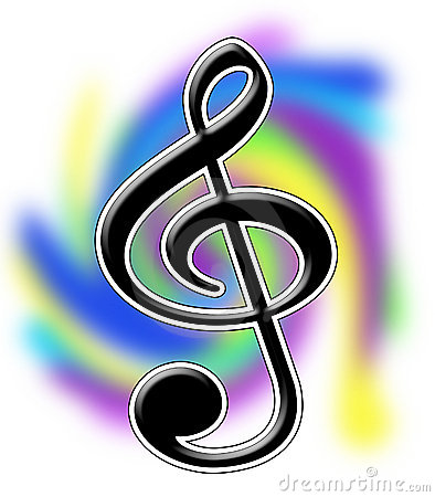 Treble Clef Music Notes Illustration Royalty Free Stock Images ...