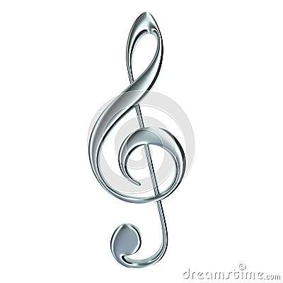 Treble clef isolated