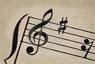 Treble clef - music concept