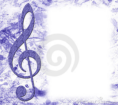 Treble Clef Musical Poster