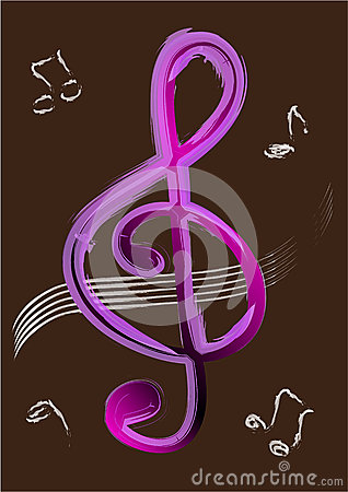 Free Treble Clef Vector Stock Photo - 25643050