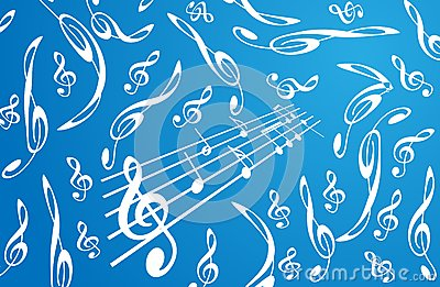 treble clefs background