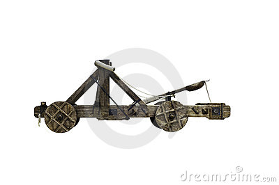 Trebuchet isolated on White background