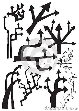 Tree of arrows (vector set)