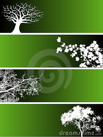 Free Tree Banners Stock Images - 5353014