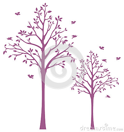 Tree with Birds Wall Decal