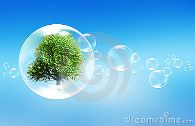 Tree in a bubble