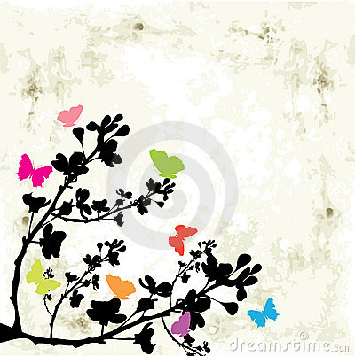 Tree and butterfly
