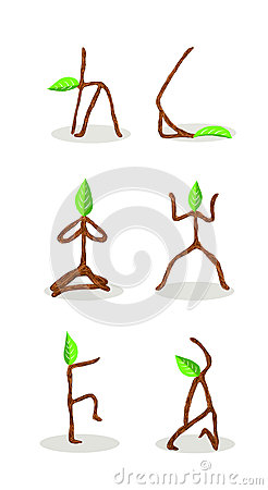 Tree cartoon of  Yoga Position 1