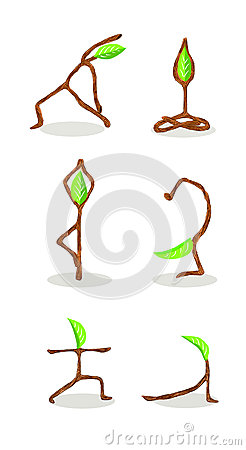 Tree cartoon of  Yoga Position 2