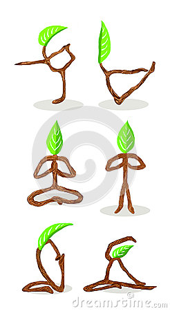Tree cartoon of  Yoga Position 3