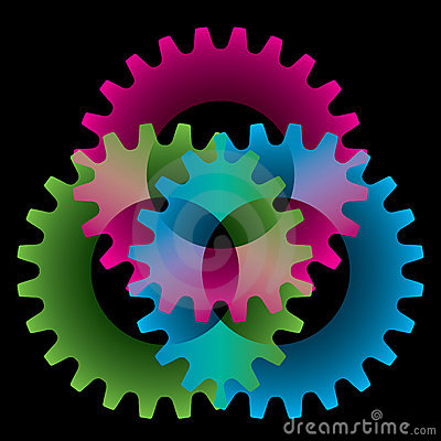 Tree colored gears