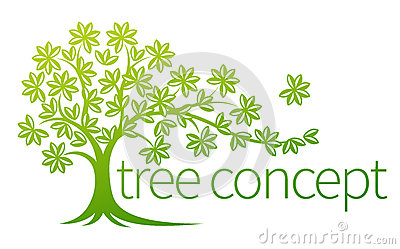 Tree concept stock vector image 79145823 - Trees for shade in small spaces concept ...