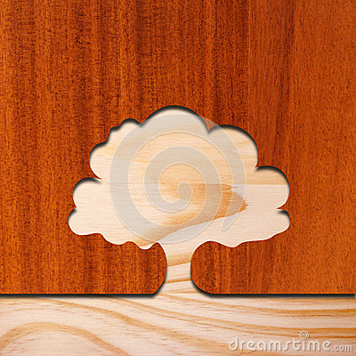 Tree concept in wood