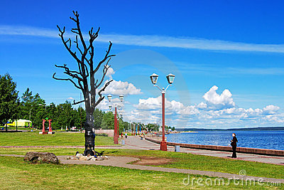 Tree of Desire - sculpture in Petrozavodsk, Russia Editorial Photography