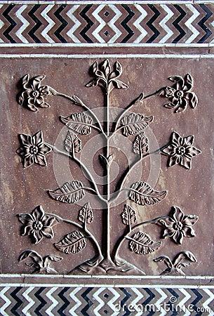 Tree detail of Taj Mahal Stock Photo