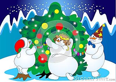 Tree festive