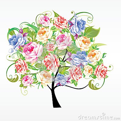 Tree from flowers