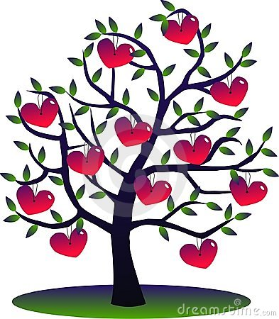 A tree full of hearts