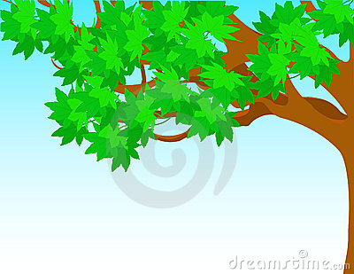 Tree With Green Leaves Against The Sky. Royalty Free Stock Image - Image: 13379866