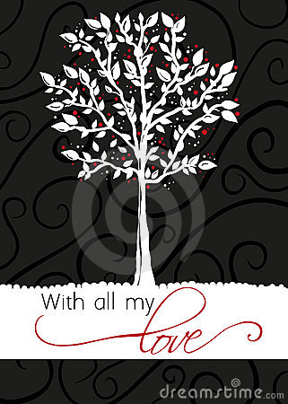 Tree - greeting card - With all my love