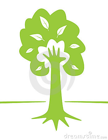 Tree and Hand - environmental creative design