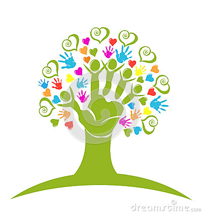 Free Tree Hands And Hearts Logo Stock Photos - 31320213