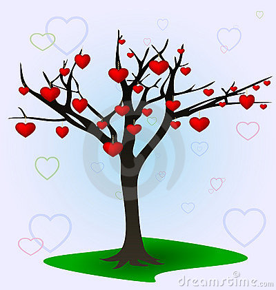 Tree and hearts