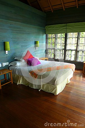 Tree house interior, eco tourism resort