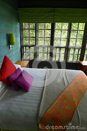 Tree house interior, eco tourism resort