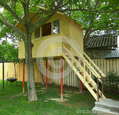 Tree house for kids Stock Photo