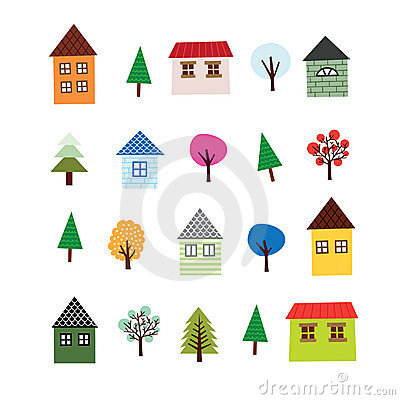 Tree and House Set