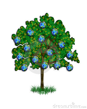 Tree illustration for Earth Day