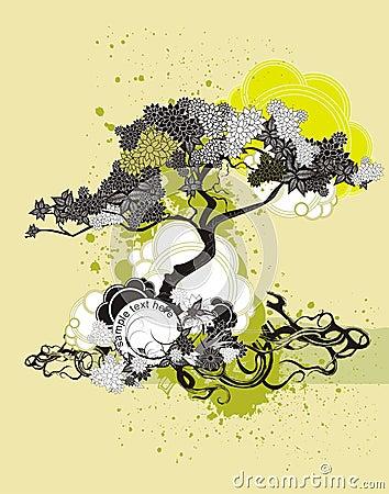 Free Tree Illustration & Medallion Royalty Free Stock Photo - 5269915
