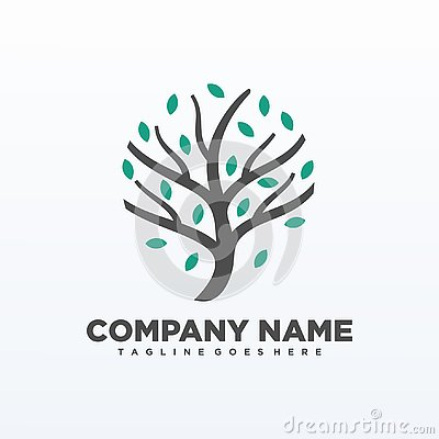 Tree isolated elements vector Template Vector Illustration