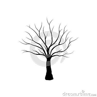 Tree isolated - Vector Cartoon Illustration