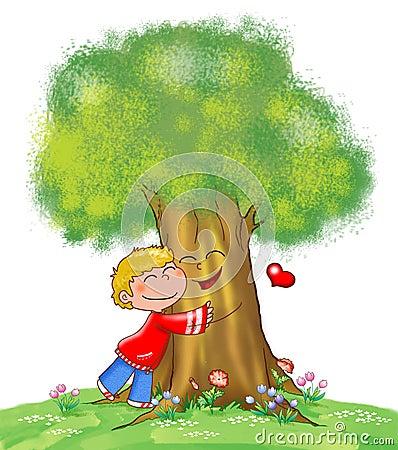 Tree and kid